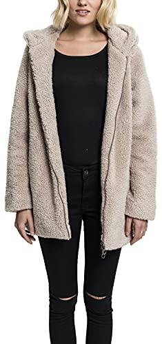 Urban s Damen Ladies Sherpa npullover Regular Fit Kapuzenpullover, Sand, XS