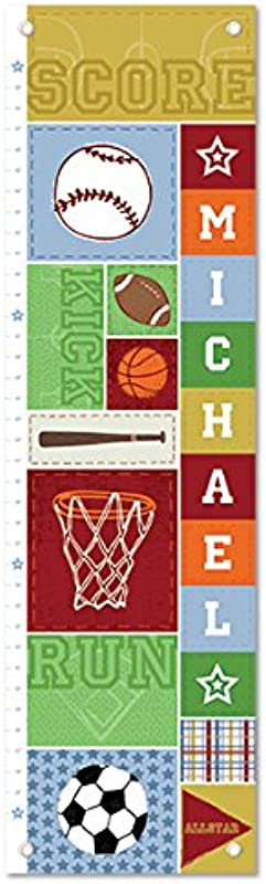 Personalized Growth Chart Ruler Sports Nursery D Cor