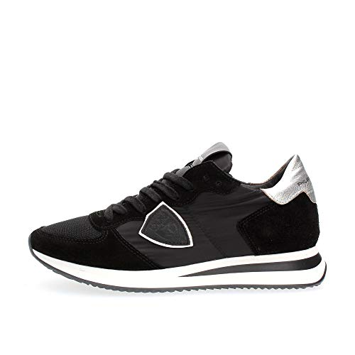 Philippe Model Tropez X Basic Sneaker Damen Schwarz/Silbern - 37 - Sneaker Low Shoes