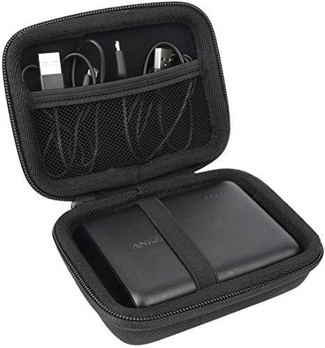 Khanka EVA custodia viaggi borsa portaoggetti per Anker Caricabatterie Portatile Caricatore PowerCore 13000 (Tutto nero)