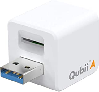 Maktar QubiiA 充電しながら自動バックアップ Android スマホ/タブレット カードリーダー 充電時自動バックアップ microSD USB3.0 専用アプリ (microSD別売)