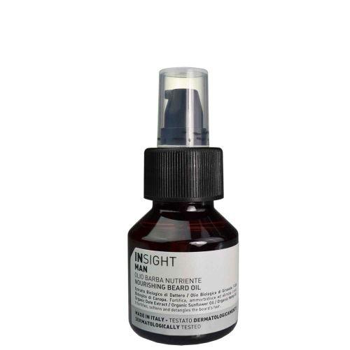 Olio da Barba Nutriente INSIGHT con Estratti biologici formato da viaggio 50 ml