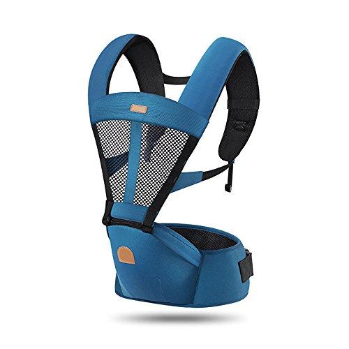 ThreeH Portabebés ergonómico con malla transpirable para niños recién nacidos BC03,Navy
