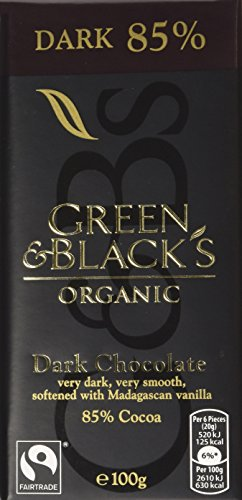 GREEN & BLACK'S Organic Dark Bar 85% Cocoa Solids 100g (PACK OF 15)