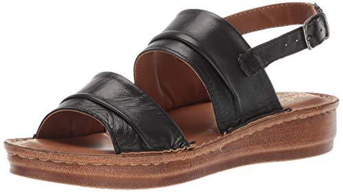 Bella Vita Women's Bella Vita Jes-Italy slingback sandal Shoe, Black Italian leather, 10 W US