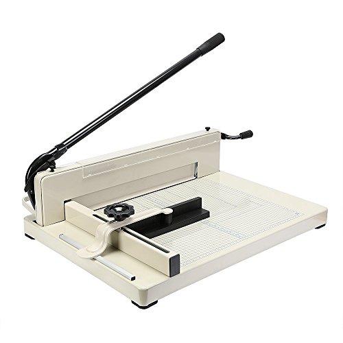 VEVOR Papierschneider A3, Stahl Papierschneidemaschine 43 cm Schnittlänge, Papierschneidemaschine für A3 B4 A4 B5 A5 B6 B7 Papier, kommerziell Schneidemaschine 500 Blatt Kapazität