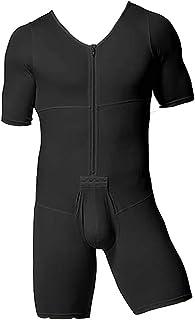 ملابس داخلية رياضية للتنحيف مع سحاب للرجال (اللون: أسود، المقاس: 5XL)