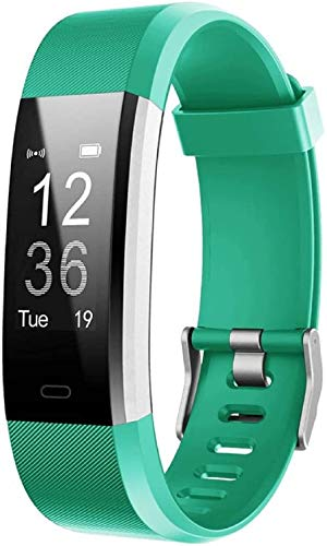 Lintelek Fitness Tracker, Slim Activity Tracker Step Counter with Heart Rate Monitor and Message Reminder