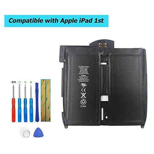 Upplus A1315 Ersatz Akku Kompatibel Für iPad 1st Gen 741-0025-A 3,75V 6600mAh A1219 A1337 616-0448 with Toolkit