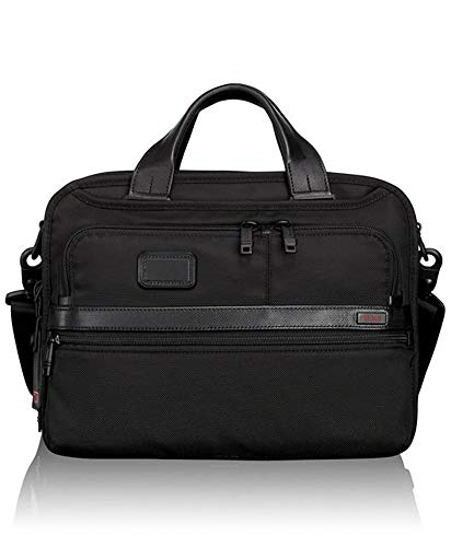 Tumi Alpha 2 Small Screen Expandable Laptop Brief, Black (Black) - 026120