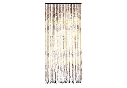 Kobolo Türvorhang Holzperlenvorhang Insektenvorhang Bow 49 Stränge 90x200 cm