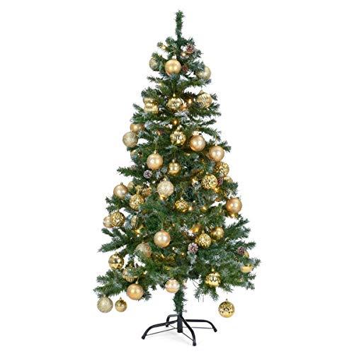 The Christmas Workshop 768101,5m Artificiale Albero di Natale con Neve e Coni, Tradizionale Verde, Green, 4ft (122cm approx.)