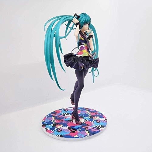 21 cm Anime PVC Figuras Díselo a su Mundo Miku Linda niña Azul Doble Cola de Caballo Chica Personaje de Escritorio Decoración de Escritorio Modelo PVC carácter Estatua Artificial Modelo