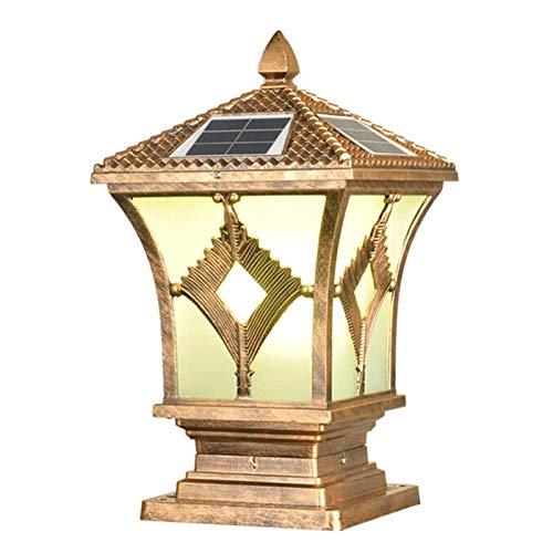 DXYSS Suave, no Deslumbrante Column Headlight Solar Columna Diamante Faro, de Estilo Europeo Moderno y Minimalista El estigma, la Columna de la Linterna de Aluminio Patio Decoración de la lámpara