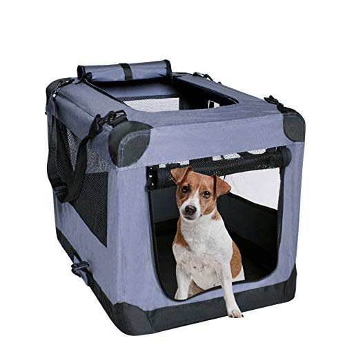 Dog Soft Crate 27 Inch Kennel for Pet Indoor Home & Outdoor Use - Soft Sided 3...