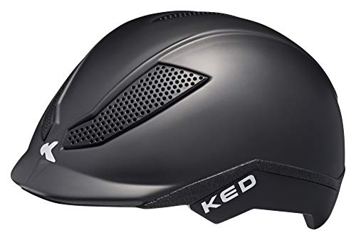 KED Pina S Back matt - 50-53 cm - inkl. RennMaxe Sicherheitsband - Fahrradhelm Reithelm Skaterhelm MTB BMX Kinder Jugendliche