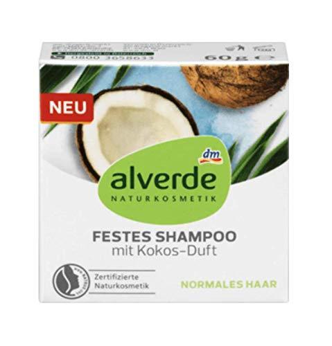 alverde NATURKOSMETIK festes Shampoo mit Kokos, 1 x 60 g