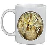 Taza de café con diseño de cacatúas y cacatúas AS0144