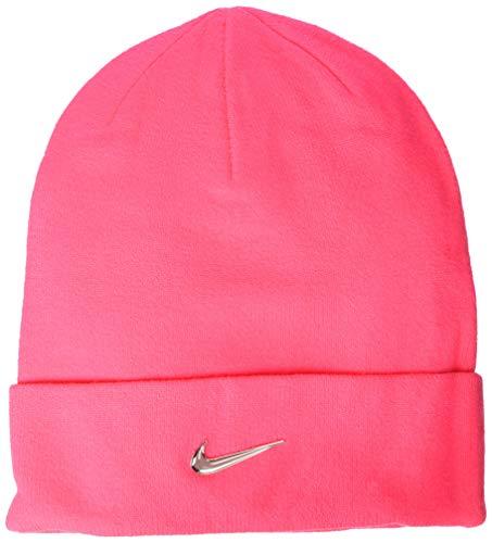 Nike Kids Beanie Mütze, Unisex Erwachsene, Racer Pink/Metallic Silber, Einheitsgröße