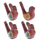 Tomaibaby 4 Piezas de Aves Acuáticas Curruca Pájaro Silbidos Ruidosa Juguetes Favores de Fiesta para Niños Estilo Aleatorio