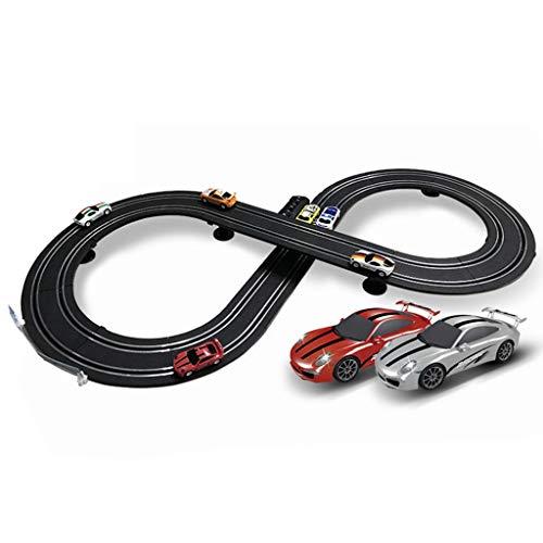 ZKW-Track Raza del coche de carril Slot Car pistas de carreras Competitivo 1: 64 modelo de escala de 2,5 millones de empalme de la pista Pista de acero inoxidable de pista regalos de cumpleaños y coti
