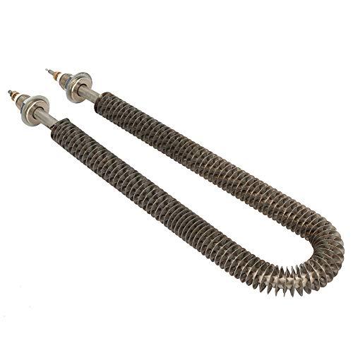 Germerse Tubo de Calor con Aletas, Tubo de Calor eléctrico de Acero Inoxidable, Elemento Calefactor en Forma de U, antienvejecimiento de 11,4 Pulgadas para hornos