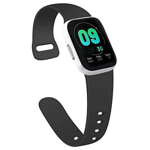 AK Cinturino Compatibile per Apple Watch 44mm 42mm 38mm 40mm, Cinturino per Uomo e Donna Cinturino Sport in Silicone per iWatch Serie 6 5 4 3 2 1 SE (42/44mm M/L, 01 Nero)