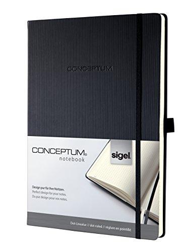 SIGEL CO108 Notizbuch ca. A4, dotted, Hardcover schwarz, Conceptum - weitere Modelle