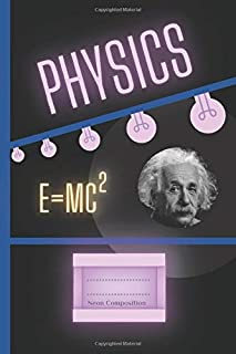PHYSICS - Notebook for Schools / Teachers / Students | Single Subject | Neon Composition on a Black Background: Small Size...
