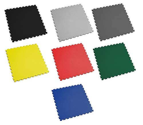 Fortelock PVC-Vinyl Bodenfliese Easyclick Leder Mittlere Belastbarkeit 2060 (Graphit)