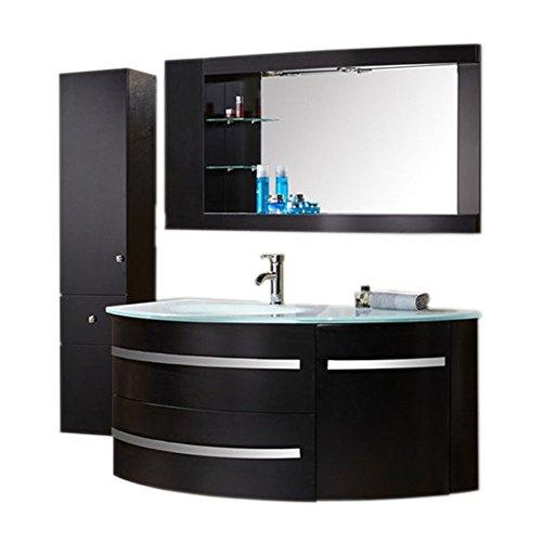 Muebles Para Baño para Baño Cuarto de Baño 120 cm grifos! Mod. Black Ambassador Mueble + espejos + repisas + grifería + fregaderos!