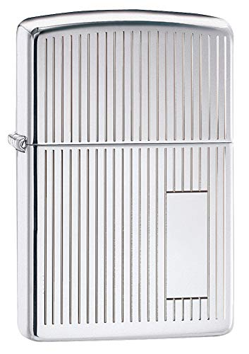 Zippo 1410001 Feuerzeug 350 Chrome Polished with Panel