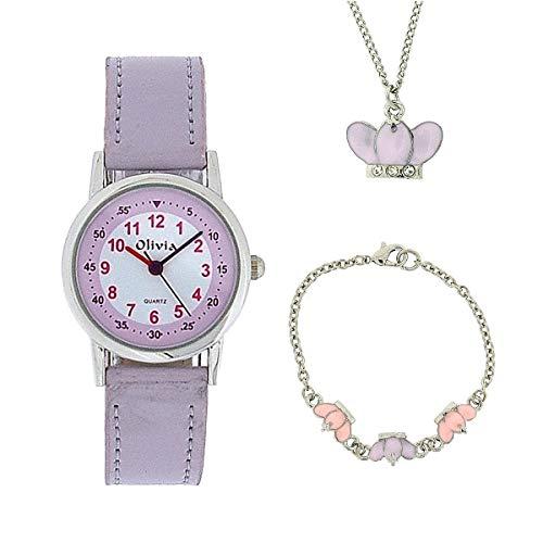 Dieses hübsche und originelle Set von The Olivia The Olivia Collection- Armbanduhr, Anhänger und Armband mit Kronen. Geschenkset KS003