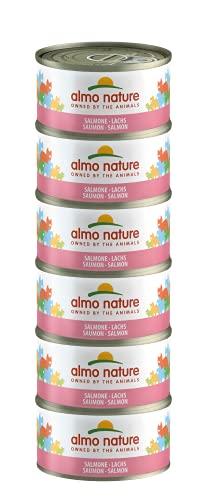 Almo Nature Megapack kattfoder våt – lax – 6-pack (6 x 70 g)