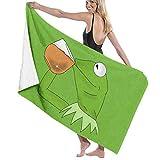 rtuuruyuy Badetücher Stranddecke Handtuch Kermit der Frosch Trinken Tee Baby Groß Weich Bett Strandtuch Badset Badzubehör