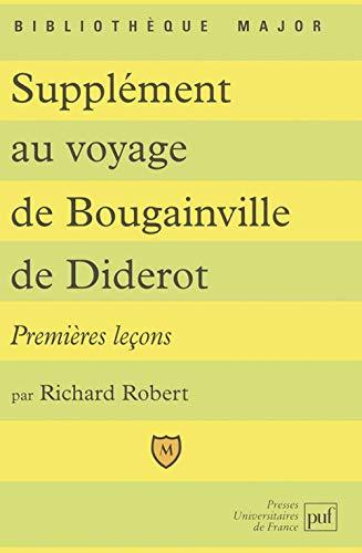 Supplément au voyage de Bougainville de Diderot : Premières leçons