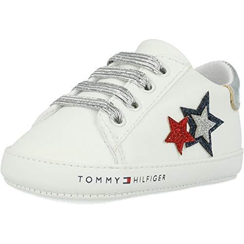 Tommy Hilfiger Baby Krabbelschuhe Mädchen Sneaker Kinder Turnschuhe T0A4-30594-0886Y003 weiß (18 EU)