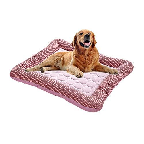 Volwco Hundematte Kühlmatte für Hunde, Kühlkissen zur Abkühlung Selbst Kühlende Hundematte Hundebett Sommer Kühlkissen Wasserdichte Rutschfeste hundematte für Zuhause Unterwegs oder im Auto