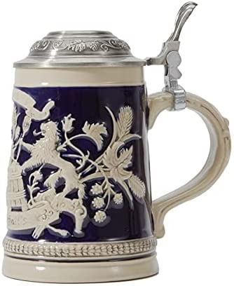 HAUCOZE Beer Stein Mug German with Pet Bavarian Tankard Drinking High material Super Special SALE held