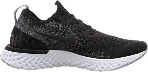 Nike Damen Epic React Flyknit Laufschuhe, Schwarz Schwarz Weiß Schwarz Weiß, 40.5 EU