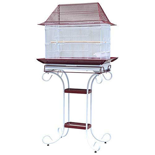Bird | AiKuJia Bird Cage Metal Bird Cage Parrot Cage Stainless Steel Suitable for Ornamental Birds Such As Peony (Color : Red, Size : One Size), Gym exercise ab workouts - shap2.com