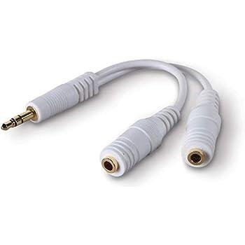 Belkin Speaker and Headphone Splitter, Standard, White
