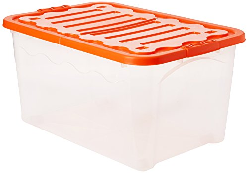 House&Style Vulcano Box Storage Duo Extralarge, Arancio, 60 x 40 x 30 cm