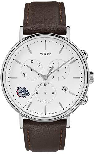 Timex MensGonzaga University Bulldogs Watch Chronograph Leather Band Watch