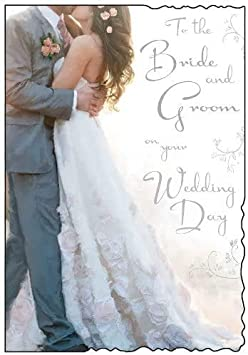 2 x Wedding Card To The Bride And Groom On Your Wedding Day