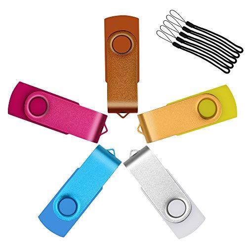 Uflatek 32MB Pendrives, 5 Unidades Pequeña Capacidad Memoria Flash USB 2.0 Portátil...