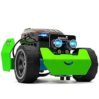 STEM Robot Kit - Robobloq Q-Scout DIY Mechanical Building Robotic Coding Kit with Remote Control for Kids Teens, STEM Educational Toy for Programming Improving Creativity (Bluetooth Version, 65pcs)
