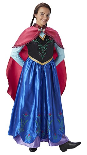 Frozen - Disfraz de princesa Anna para mujer, talla S adulto (Rubie's 810414-S)