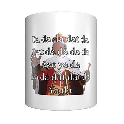 King George Singing - Taza de café de cerámica, diseño único y novedoso para el hogar o la oficina para los amantes del anime