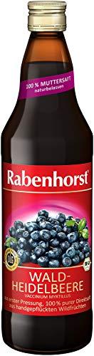 Rabenhorst Waldheidelbeere Muttersaft Bio 6er Pack x 700 ml, Heidelbeere, 4200 ml, (Pack of 6)